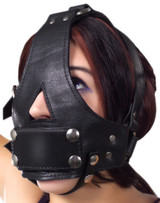 Strict Leather Bishop Head Harness with Removable Gag (LE400)