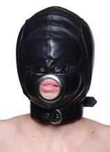 Leather Padded Hood with Mouth Hole - Medium/Large (AC332-ML)
