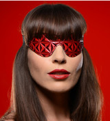 Crimson Tied Full Blackout Embossed Blindfold (AE143)
