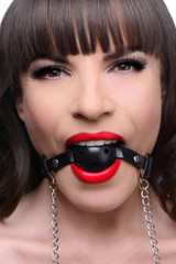 Breathable Ball Gag with Nipple Clamps (AE402)