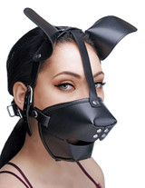 Pup Puppy Play Hood and Breathable Ball Gag (AE766)