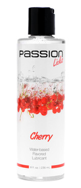 Passion Licks Cherry Water Based Flavored Lube - 8 oz (AE805-Cherry)