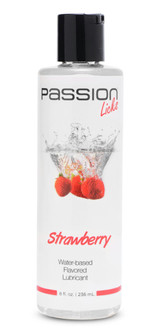 Passion Licks Strawberry Water Based Flavored Lubricant - 8 oz (AE805-Strawberry)