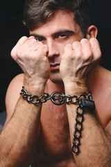 Tom of Finland Locking Chain Cuffs (TF2354)