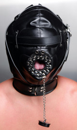 Sensory Deprivation Hood with Open Mouth Gag (AE992)