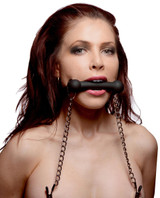 Equine Silicone Bit Gag with Nipple Clamps (AD700)