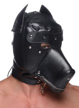 Muzzled Universal BDSM Hood with Removable Muzzle (AF151)