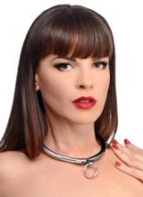 Stainless Steel Combination Lock Slave Collar (AF644)
