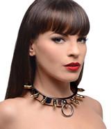 Stainless Steel Spiked Slave Collar (AF672)
