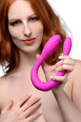Double Thump 7x Rechargeable Silicone Double Dildo (AF670)