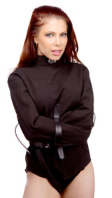 Strict Leather Black Canvas Straitjacket (ST900-L)