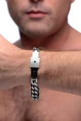 Chained Locking Bracelet and Key Necklace (AF920)