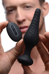 Silicone Vibrating Anal Plug With Remote Control (AF870)