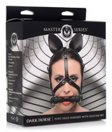 Dark Horse Pony Head Harness with Silicone Bit (packaged)