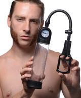 Trigger Penis Pump with Built-in Pressure Gauge (AG223)