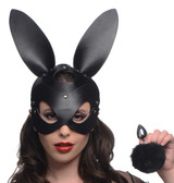Bunny Tail Anal Plug and Mask Set (AG201)