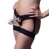 Kinetic Thumping Remote Control Dildo With Garter Belt Harness - Small (AG401-Small)