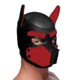 Spike Neoprene Puppy Hood - Red (AG292-Red)