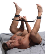 Leather Wrapped Spreader Bar with Cuffs (AG353)