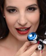 Blue Gem Weighted Anal Plug - Medium (AG345-Medium)