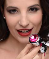 Hot Pink Gem Weighted Anal Plug - Medium (AG344-Medium)