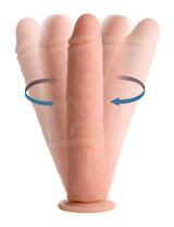 Vibrating and Rotating Remote Control Silicone Dildo - 9 Inch (AG509-9)