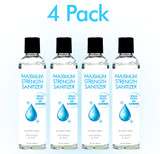 Anti-Bacterial Maximum Strength Hand Sanitizer 8oz 4-Pack (AG545)