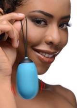 XL Silicone Vibrating Egg - Blue (AG331-Blue)