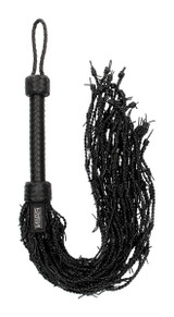 Leather Barbed Wire Flogger (AG383)