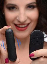 Vibrating Bullet with Remote Control - Black (AG366-Black)