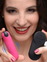 Vibrating Bullet with Remote Control - Pink (AG366-Pink)