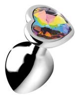 Rainbow Prism Heart Anal Plug - Medium (AG374-Medium)
