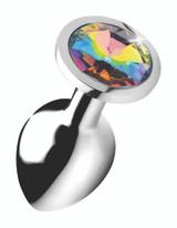 Rainbow Prism Gem Anal Plug - Medium (AG375-Medium)