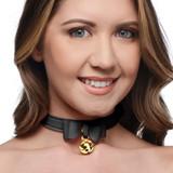 Golden Kitty Cat Bell Collar - Black/Gold (AG456-Black)
