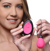 10X Silicone Vibrating Egg - Pink (AG462-Pink)