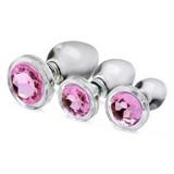 Pink Gem Glass Anal Plug Set (AG431)