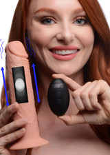7X Remote Control Vibrating and Thumping Dildo - Light (AG503-Light)