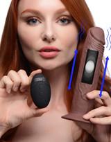 7X Remote Control Vibrating and Thumping Dildo - Dark (AG503-Dark)