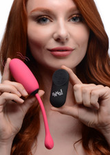 Remote Control 28X Silicone Plush Egg - Pink (AG590-Pink)