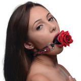 Silicone Ball Gag with Rose (AG574)