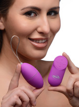 28X Scrambler Vibrating Egg with Remote Control - Purple (AG657-Purple)