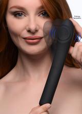 5 Star 9X Pulsing G-spot Silicone Vibrator - Black