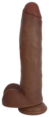 JOCK 11 Inch Dong with Balls Brown - CN-09-0423-11