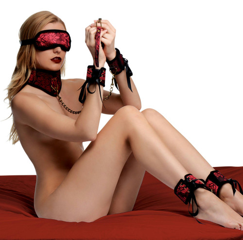 Red Dragon 5 Piece Satin Bondage Set (AF312)
