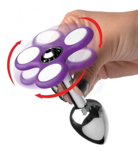 Light Up Fidget Spinner Anal Plug