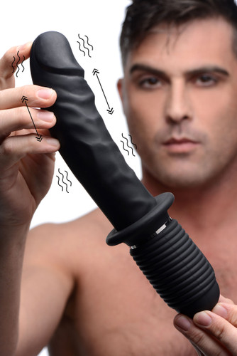 Power Pounder Vibrating and Thrusting Silicone Dildo (AF911)