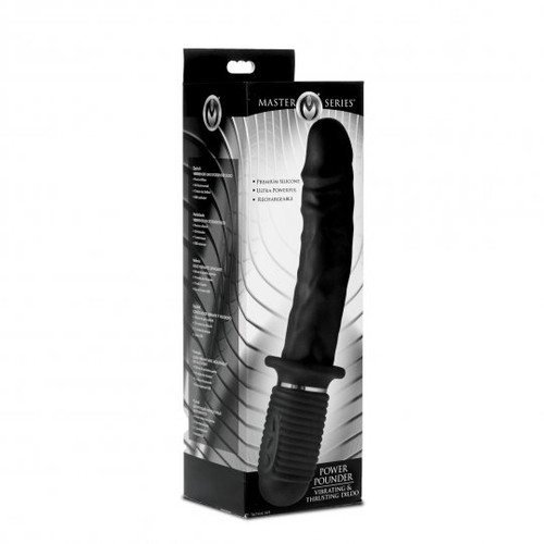 Power Pounder Vibrating and Thrusting Silicone Dildo (packaged)