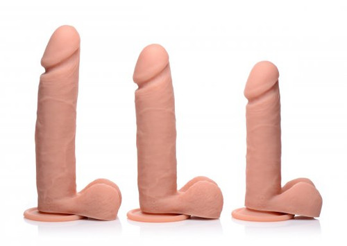 Big Shot Vibrating Remote Control Silicone Dildo with Balls - 10 Inch