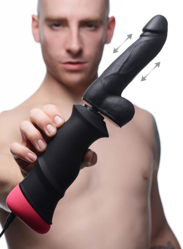 Mega-Pounder Hand-held Thrusting Silicone Dildo (AF980)