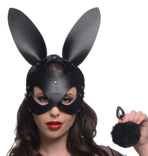 Bunny Tail Anal Plug and Mask Set (AG201)